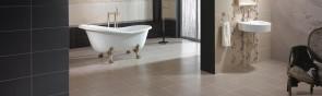 Каким образом осуществляется раскладка плитки в ванной комнате