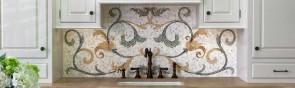 Кафельный фартук на кухню: дизайн плитки