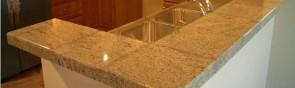 Как плиткой под мрамор выложить кухонную столешницу?