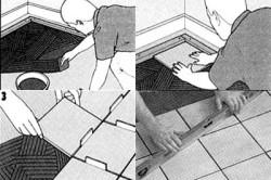 Схема укладки плитки на пол.