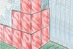 Схема укладки плитки на углу