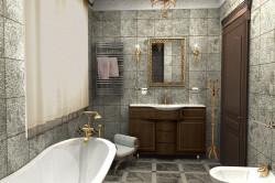 Оформление ванной в стиле бионика