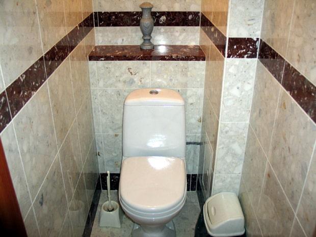 Отделка туалета кафельной плиткой