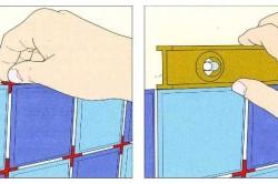 Схема укладки крестиков между плиткой