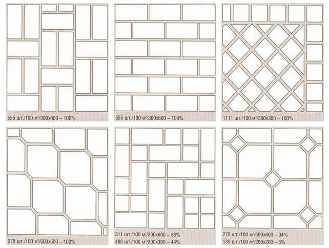 Схемы укладки керамической