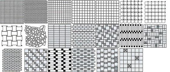 Общая схема укладки мозаики