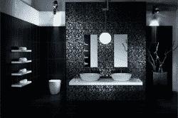 Черная плитка в ванной