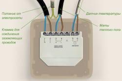 Подключение теплого пола к терморегулятору и к источнику электроэнергии