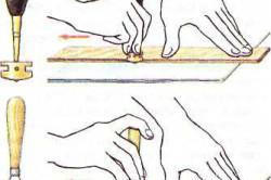 Прием резки плитки алмазным и роликовым стеклорезом