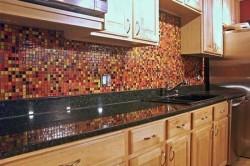 Оформление плиткой на кухне