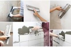 Этапы укладки плитки на стену