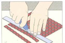 Нарезка мозаичной плитки