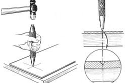 Схема удара плитки кернетом
