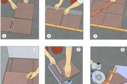 Этапы облицовки пола керамической плиткой