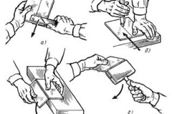 Приемы резки плиток