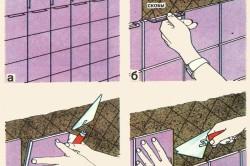 Как наклеить кафельную плитку на кухне