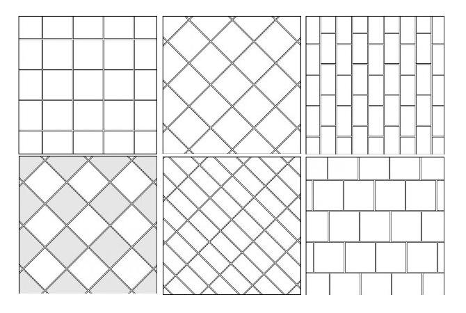 Схемы раскладки плитки в ванной