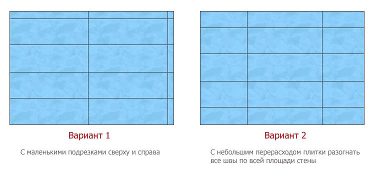 Схема расположения керамической плитки