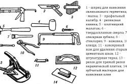 Инструменты для кладки керамической плитки