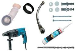 Инструменты для монтажа унитаза