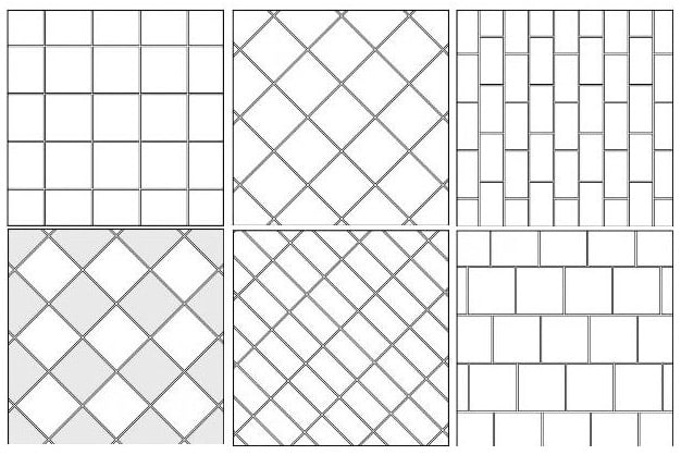 Схема базовой укладки плитки
