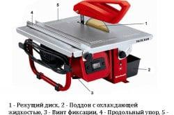 Схема устройства электрического плиткореза