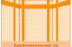 Схема комбинированной кладки по горизонтали и вертикали