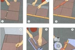 Схема облицовки пола керамической плиткой