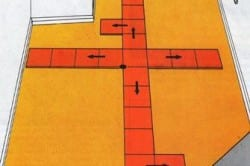 Схема правил укладки напольной плитки