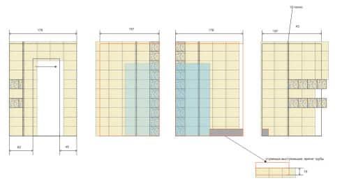 Схема раскладки плитки в туалете