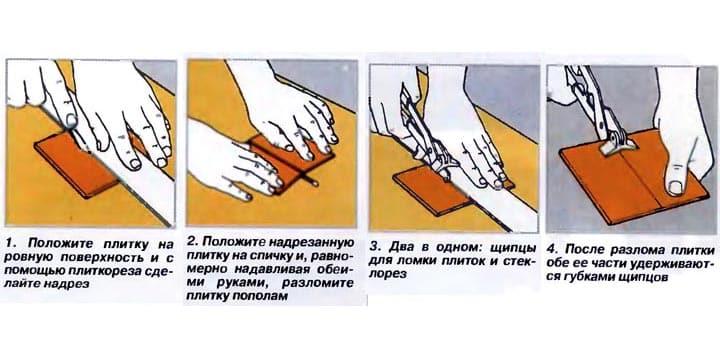 Как разрезать плитку в домашних условиях без инструментов