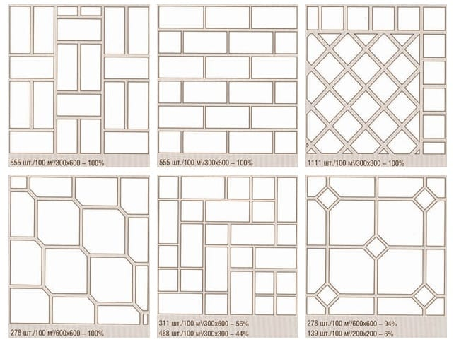 Схема видов укладки плитки