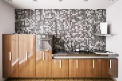 Стена с мозаикой