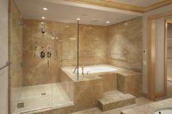 Ванная в мраморе