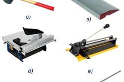 Основные инструменты для укладки плитки