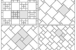 Модульная схема укладки плитки.