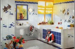 Морской порт в ванной комнате