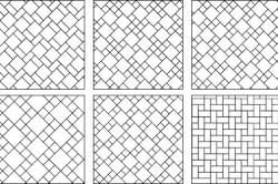 Схемы орнаментной кладки плитки в ванной