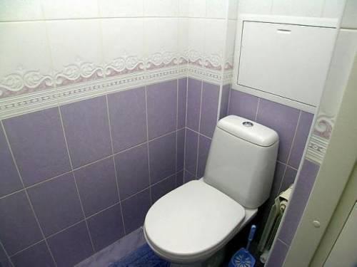 Отделка туалета кафелем