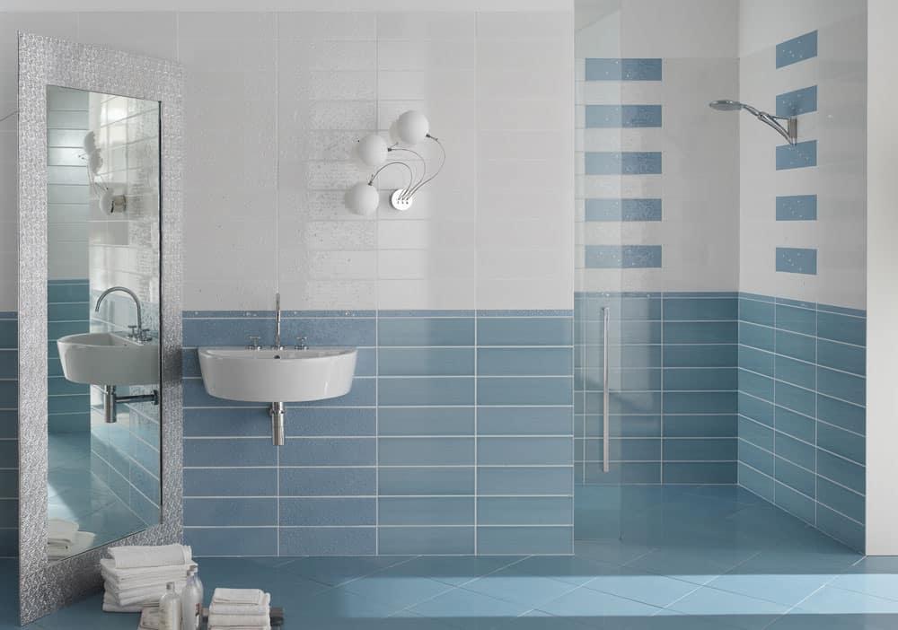 Оформление ванной комнаты кафелем