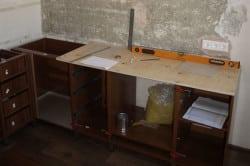 Подготовка к установке столешницы