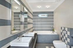 Геометрический рисунок в ванной