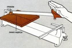 Раскрой керамической плитки