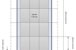 Расчет количества необходимого числа плитки.