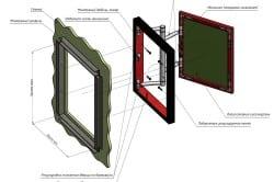 Схема монтажа люка под плитку