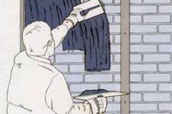 Схема нанесения строительной смеси для выравнивания стен