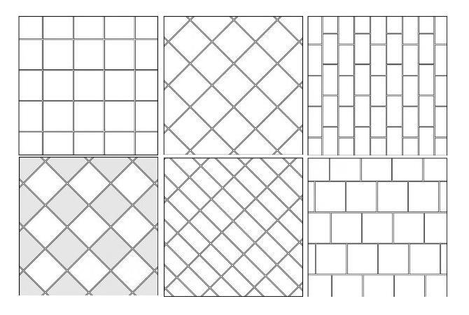 Схемы раскладки плитки в
