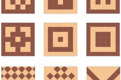Узорные варианты укладки плитки
