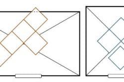 Варианты укладки плитки по диагонали от центра