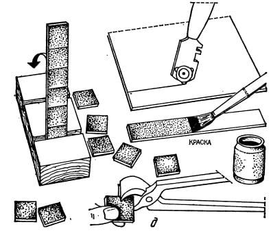 Схема работы с кафелем для создания мозаики